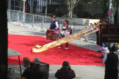 Musizieren vor der Hauptbühne